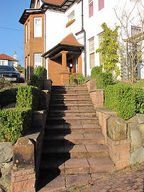 Stairway to entrance to Gardenrose