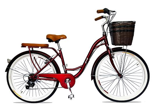 Bicicleta De Dama c/ Canasta Parrilla Aro 26