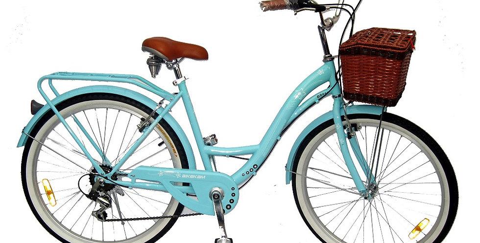 Vintage - Bicicleta Mujer Aro 24 - Turquesa