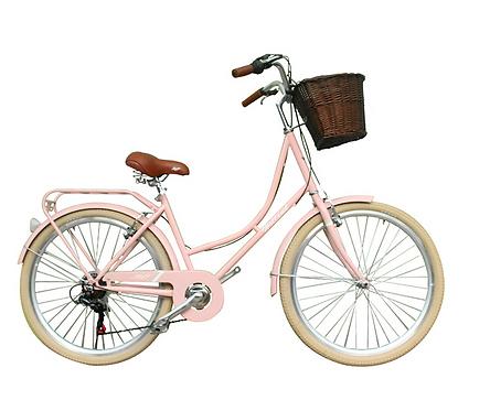 Bicicleta De Dama Aro 26 Ámsterdam - Rosada