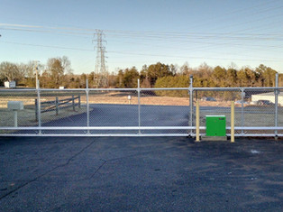chain link access gate