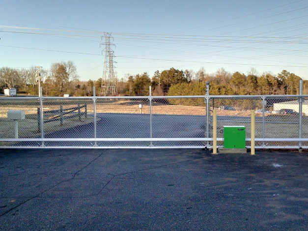 chain link access gate