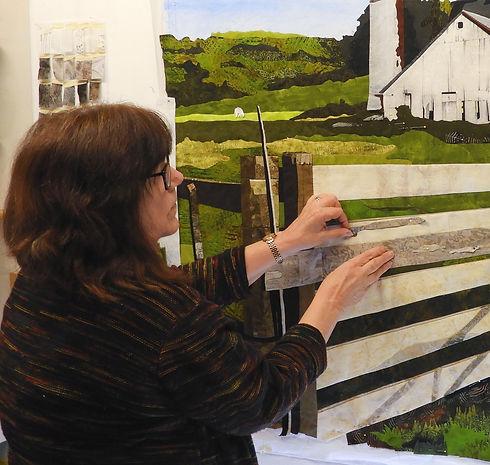 LeAnn Hileman with art quilt