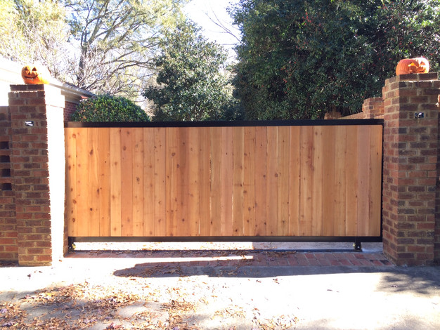 Residential Wood Gate