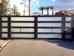 Custom Gates with Glass Panels