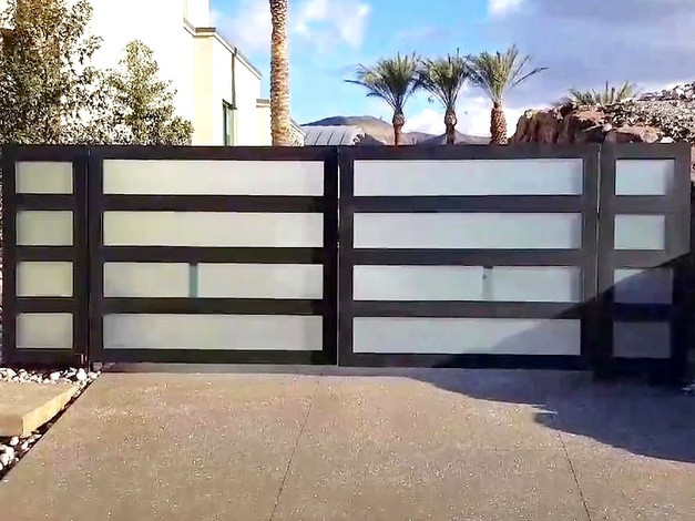 Custom Gates with Glass Panels
