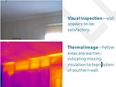 Thermal Imaging walls for energy loss