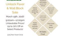 Paver Sale March 19th