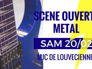 SCENE OUVERTE METAL 20 FEVRIER 2016
