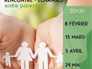 Rencontre entre parents -15/03 -20h30