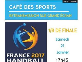 Championnat du monde de Hand- 1/8 de finale - Samedi 21 Janvier 2017- 17h45