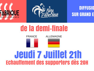 Café des sports France-Allemagne Jeudi 7 Juillet à 21H
