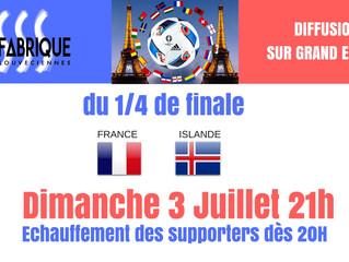 France-Islande sur grand écran Dimanche 3/07 21h