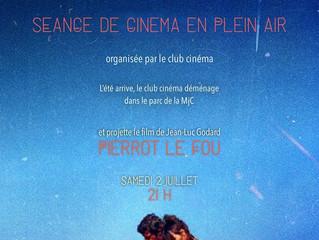 Club cinéma Samedi 2 Juillet 21h