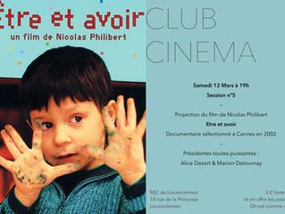 Club cinéma samedi 12 mars 19h