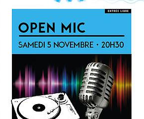 Open MIC Samedi 5 Novembre 20h30