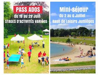 Pass Ados - du 18/06 AU 6/07