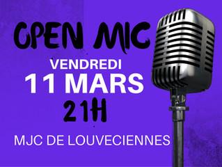 Open Mic vendredi 11 mars 21h