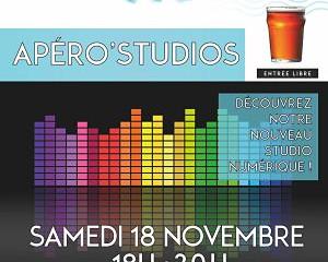 APÉRO'STUDIOS Sam 18/11 à 18h