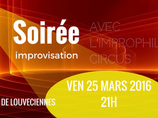 Soirée Théâtre Impro ven 25 mars 21h