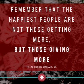 Remember that the happiest people are no