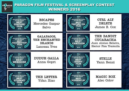 Paragon Film Festival Winners 2016