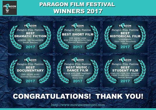 Paragon Film Festival Winners 2017