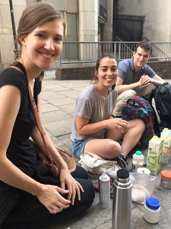 Volunteers with The Hot Choc Mob making hot drinks for the homeless on London's streets