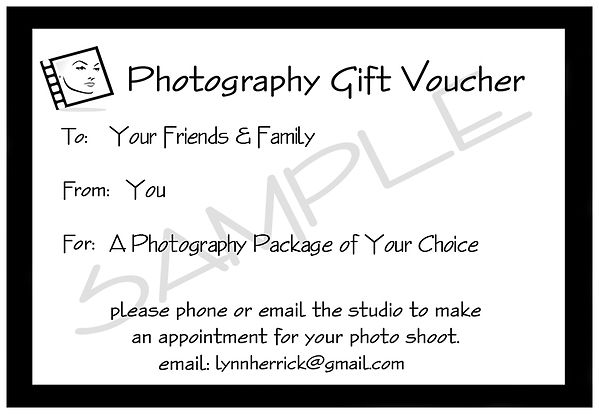 Gift Vouchers Photography Studio North London