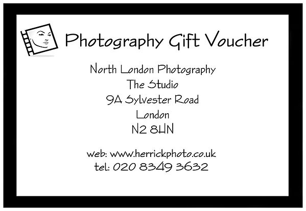 Photography Gift Vouchers North London