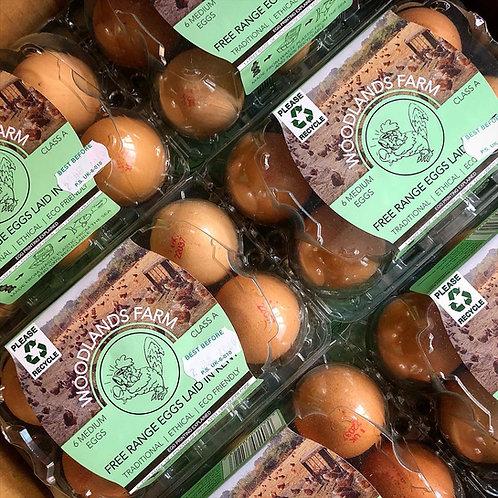 Free Range Local Eggs (Half Dozen)