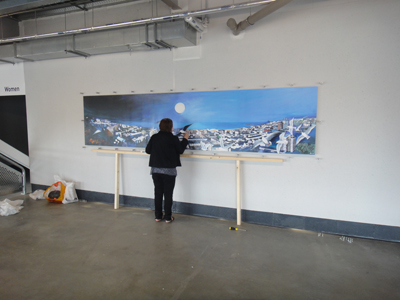 Painting at Amex stadium