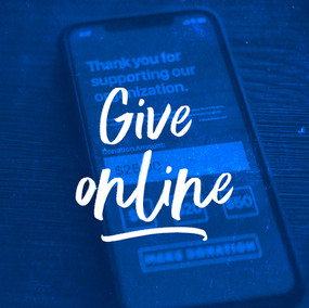 Give Online Blue Textured Overlay iPhone