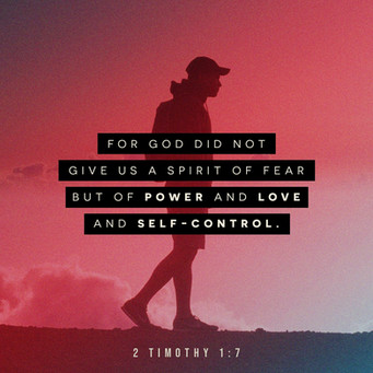 2 Timothy 1;7 NET For God Did Not Give U