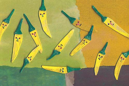 黄色とうがらしポストカード
