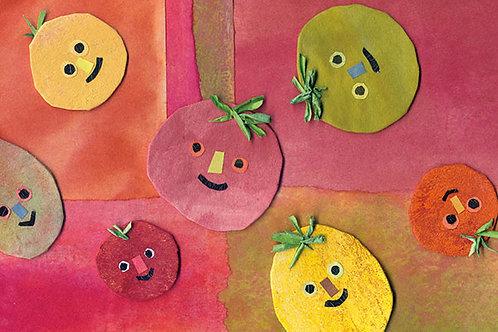 カラフルトマトポストカード