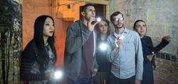 Razors - Actors Kunjue Li, Josh Myers, Georgia Maguire, Ian Weichardt and Kelby