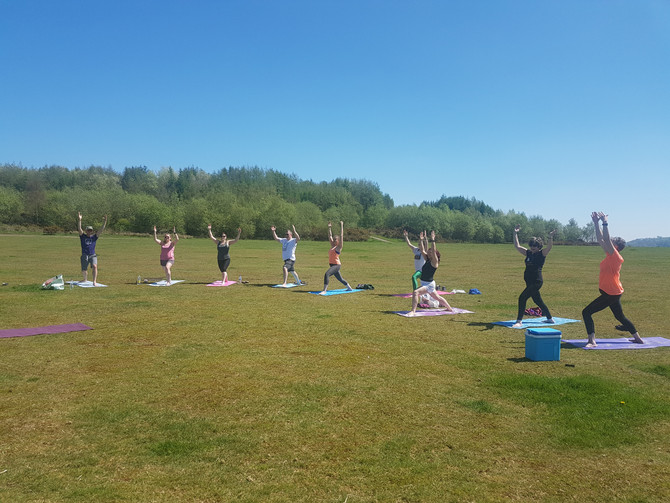 Yoga picnic in Penallta park 6/5/18