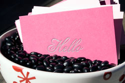 Hello Letterpress Calling Card