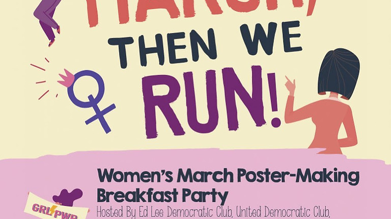 Fourth Annual Women's March Poster Making Breakfast Party