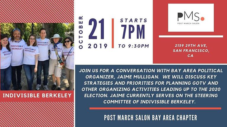 BAY AREA: Evening with Local Political Organizer, Jaime Mulligan