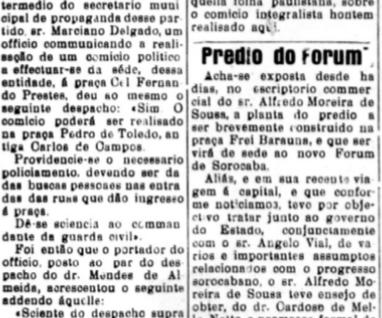 A luta antifascista em Sorocaba na década de 1930
