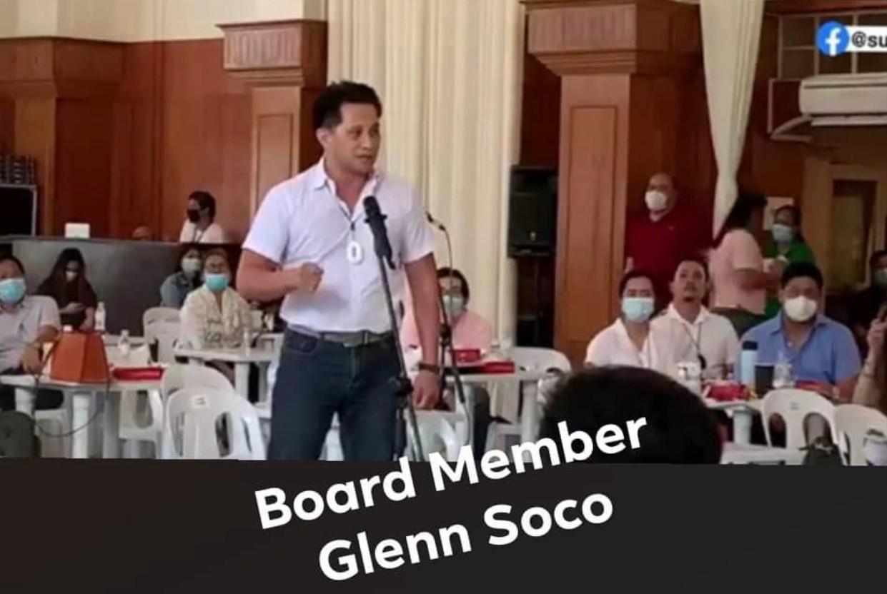Board Member Glenn Soco of Cebu