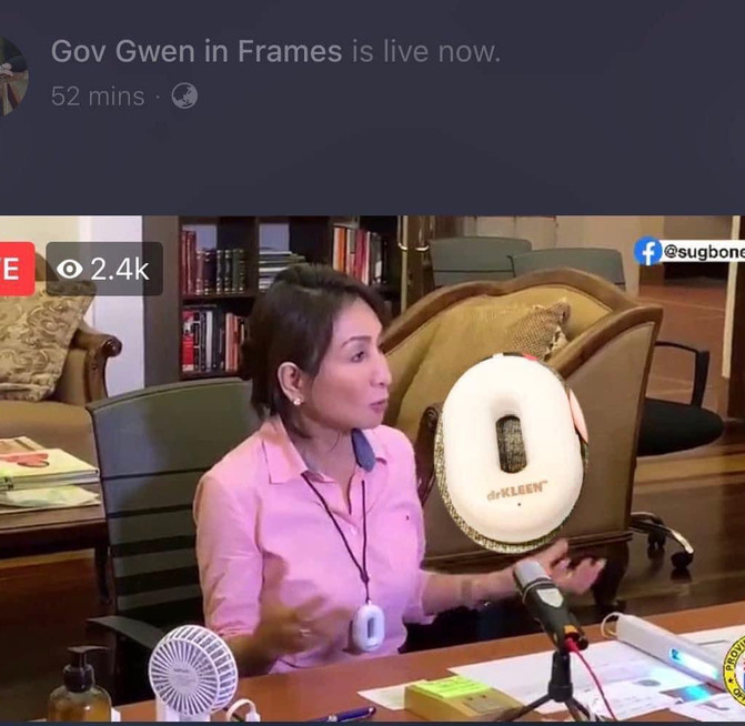Cebu Governor Gwen Garcia