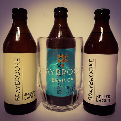 Braybrooke Lager Trio & Glass