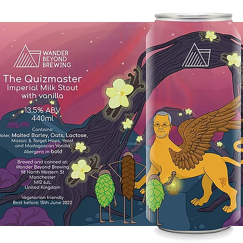 Wander Beyond The Quizmaster Madagascan vanilla Imperial Stout