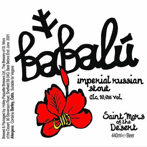 Brewery of St Mars Babalu, Imperial Russian Stout