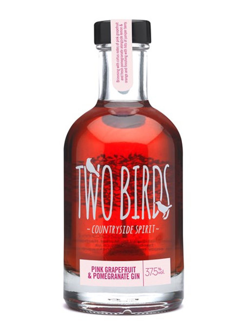 Two Birds Pink Grapefruit & Pomegranate Gin 20cl
