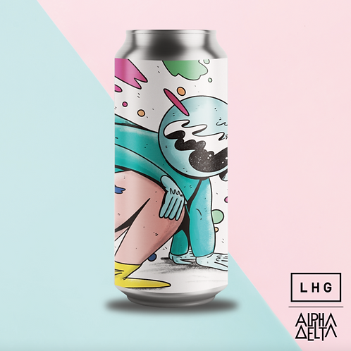 Left Handed Giant X Alpha Delta Brewing Nobody Told Me We Had Wings Hazy IPA