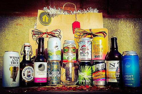 The Twelve Beers of Christmas - 12 Beers plus Beer Garage Glass